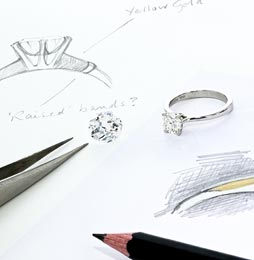 Bespoke jewelelry design at randalls jewellers