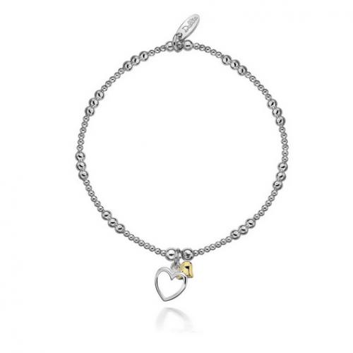Alicia Double Golden Heart Bracelet