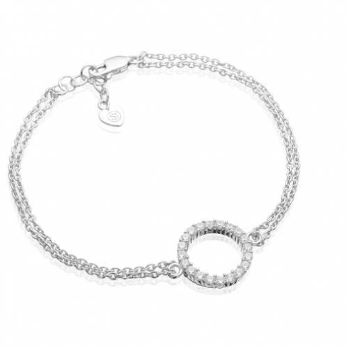Bracelet Biella grande with white zirconia