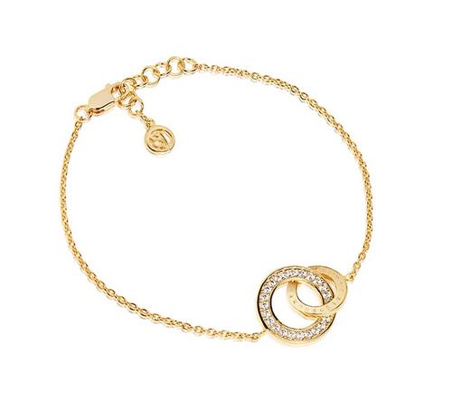 Bracelet Prato Uno Piccolo - 18k gold plated with white zirconia