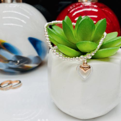 Dollie Jewellery Alicia Double Rose Heart Bracelet