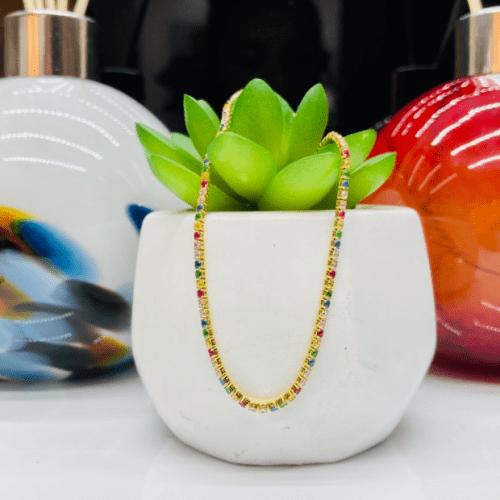 Sif Jakobs Bracelet Ellera Gold Multicoloured Zirconia