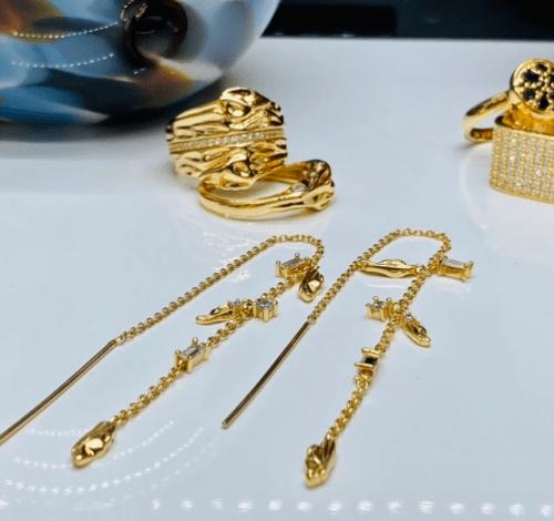 Sif Jakobs Earrings Vulcanello Chain