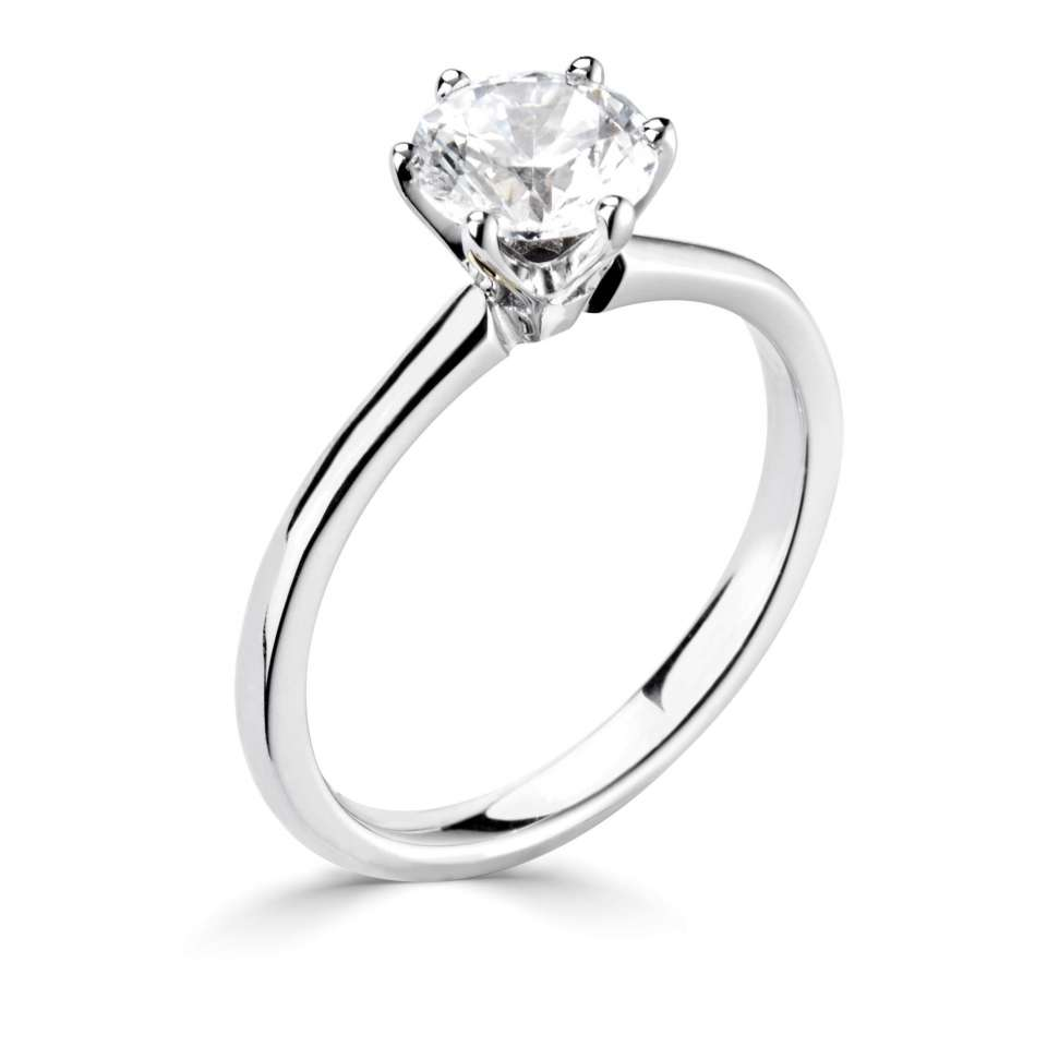 platinum engagment ring 1-r1-2001