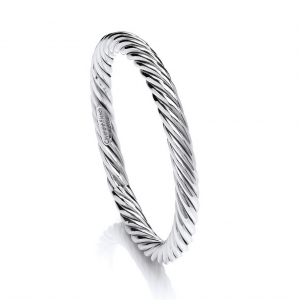 Thick twist full crcle bangle