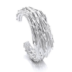 silver shards bangle