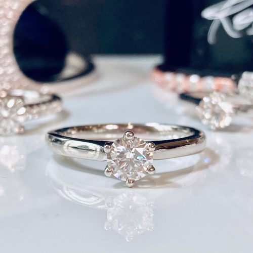 0.50ct 6 Claw Solitaire Platinum Engagement Ring