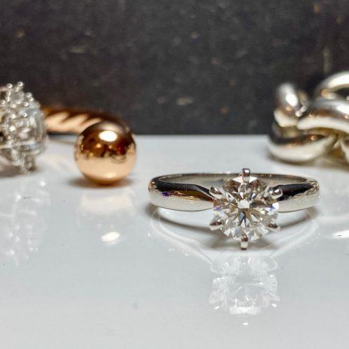 1ct platinum engagement ring 1