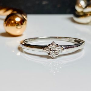 4 stone engagement ring white gold