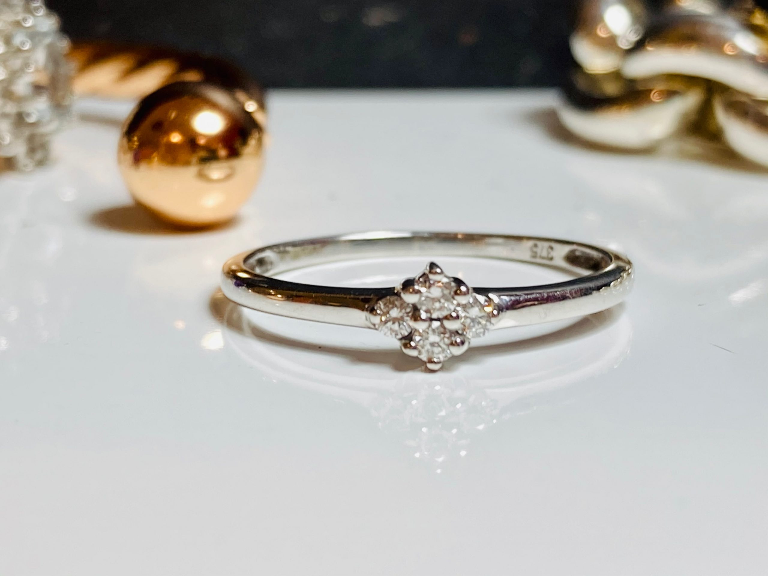 4 stone engagement ring white gold