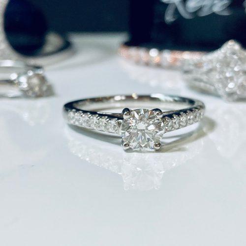 Diamond and Platinum Solitaire Engagement Ring