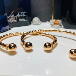 Rose Gold Torque Bangle 3