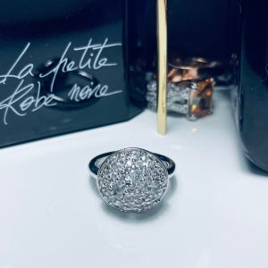Silver and CZ Dome Ring