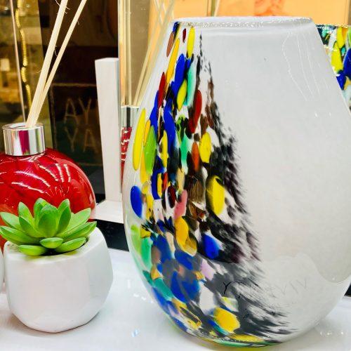 Amelia Art - Grey Inferno Vase