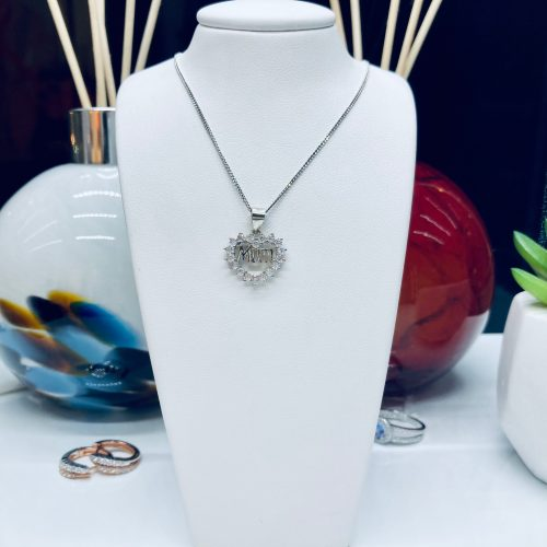 Mothers Day - SIlver Heart Necklace