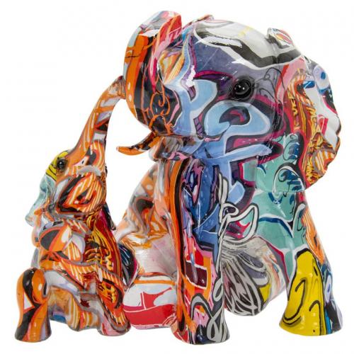 Graffiti Art - Sitting Elephants