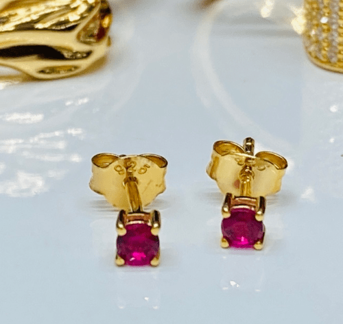 Pendant Princess Piccolo Earrings Red Zirconia