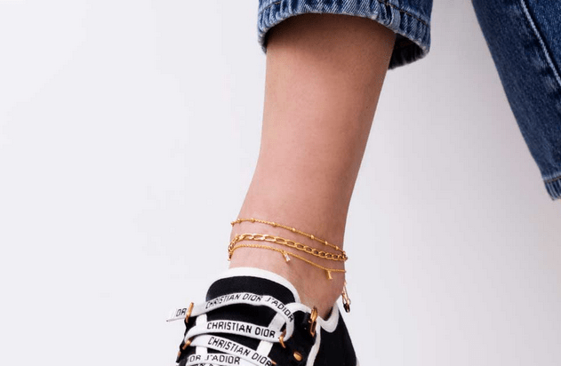 Sif Jakobs Ankle Chain Cheval Gold Plated
