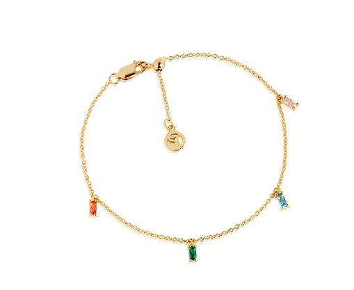 Sif Jakobs Ankle Chain Princess Multicolored Zirconia
